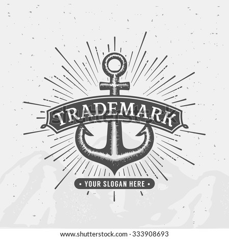 Anchor emblem. Element for company logo, business identity, print products or other design. Vector illustration. - stock vector