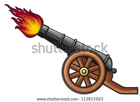 ancient cannon  - stock vector