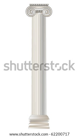 Ancient Greek Ionic order - stock vector