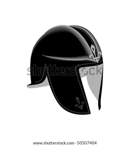 ancient helmet - stock vector