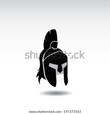 ancient helmet icon  - stock vector