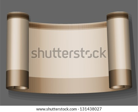 Ancient scroll - stock vector