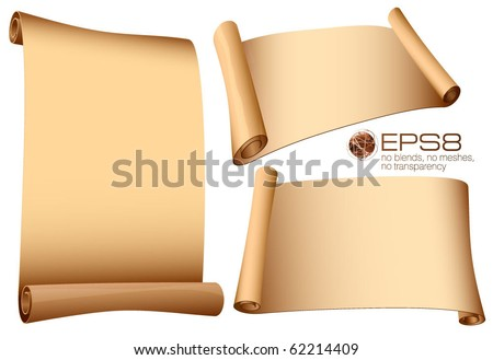 Ancient scrolls. Vector. - stock vector