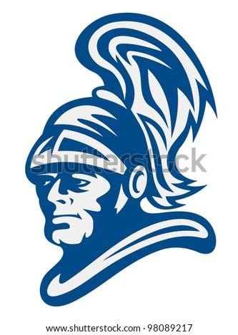 Ancient warrior for historical or mascot design. Vector illustration - stock vector