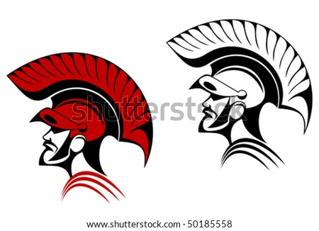 Ancient warrior symbol as a concept of security or power. Jpeg version also available - stock vector