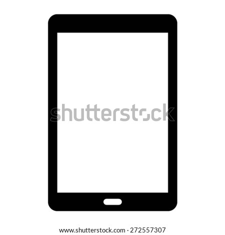 Android tablet flat icon for websites - stock vector