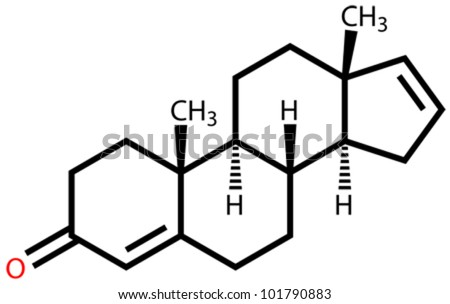 Androstadienone, a strong male-produced pheromone. Structural formula - stock vector