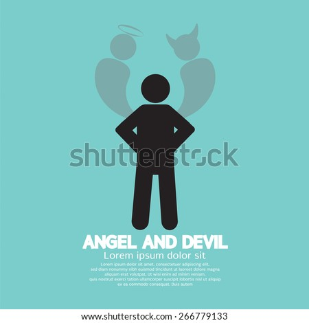 Angel And Devil Dark Side And Bright Side Of Human - stock vector