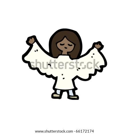 angel cartoon - stock vector