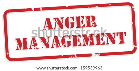 Anger management red rubber stamp vector for mental health concept - stock vector