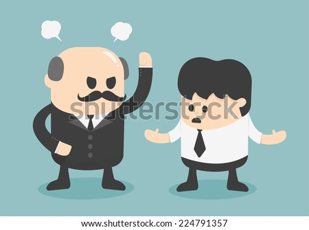 angry boss concept - stock vector