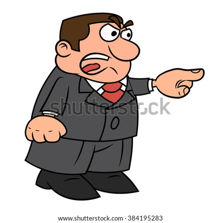 Angry boss screaming - stock vector