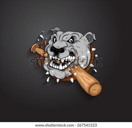 Angry Bulldog Mascot Vector - stock vector