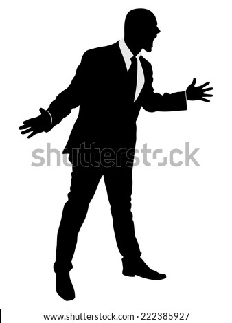 angry Businessman, vector  - stock vector
