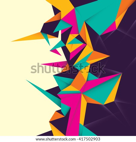 Angular abstraction in color. Vector illustration. - stock vector