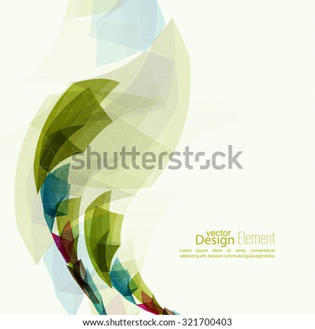 Angular geometric color shape. Abstract background with colored crystals, trellis structure. For cover book, brochure, flyer, poster, magazine, booklet, leaflet, annual report - stock vector