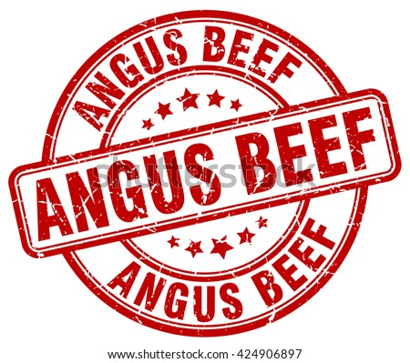 angus beef red grunge round vintage rubber stamp.angus beef stamp.angus beef round stamp.angus beef grunge stamp.angus beef.angus beef vintage stamp. - stock vector