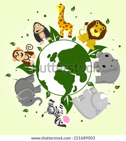 animal group - stock vector