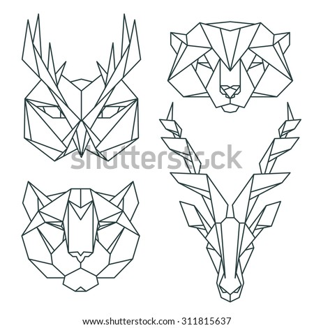 Pinstripes 104652092 moreover Grinning skull likewise Stock Vector Fox Head Low Poly Geometric Polygonal Flat Design Style Logo Element  pany Mascot Vector in addition Deer Silhouette together with Prosportdecals blogspot. on deer head logo