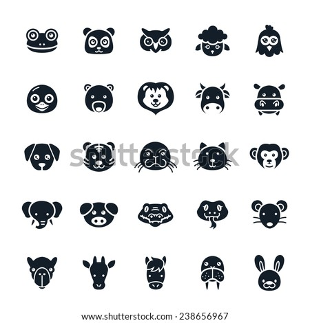 Animal Icons Vector Illustration - stock vector