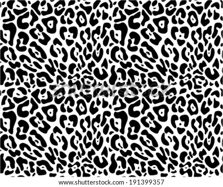 Cheetah Print Black And White Pattern Animal print seamless vector