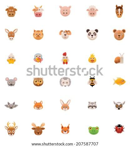 Animals icon set. Part 1  - stock vector