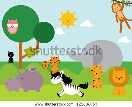 animals vector/illustration - stock vector