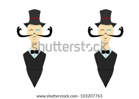 Animated business man - stock vector