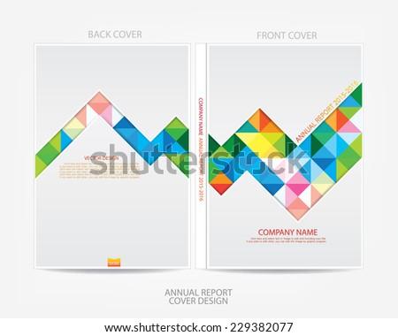 Annual report cover design - stock vector