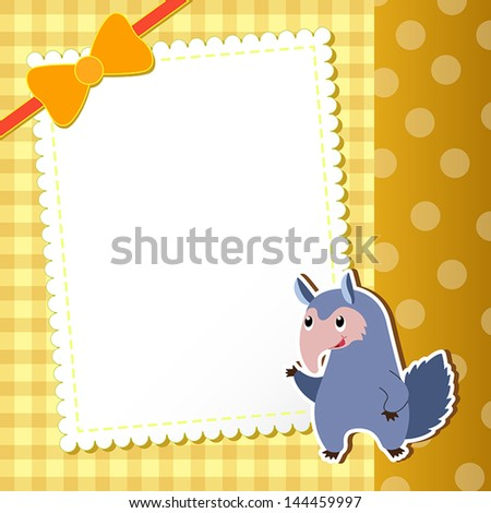 anteater. baby card. vector illustration - stock vector