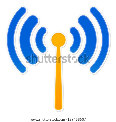 Antenna icon in Slick web 2 style - stock vector