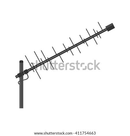 Antenna icon. Television antenna. TV antenna. Aerial icon. Antenna icon set. Antenna vector isolated on a white background. - stock vector