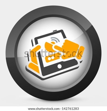 Antenna tablet - stock vector