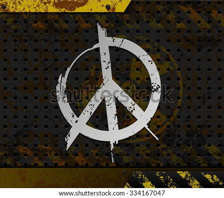 Anti-nuclear background with peace symbol - stock vector