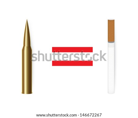 Anti tobacco  concept vector. Isolated on white background. - stock vector