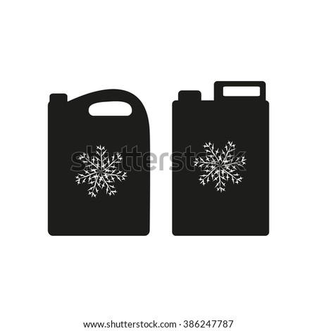 Antifreeze. Silhouette. Canister. - stock vector