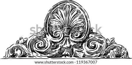 antique cartouche - stock vector