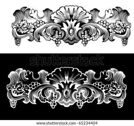 Antique Design Element Engraving, Scalable And Editable Vector Illustration - stock vector