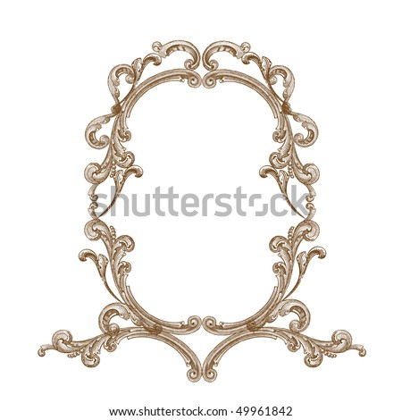 Antique frame - stock vector