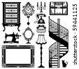 antique furniture - stock vector