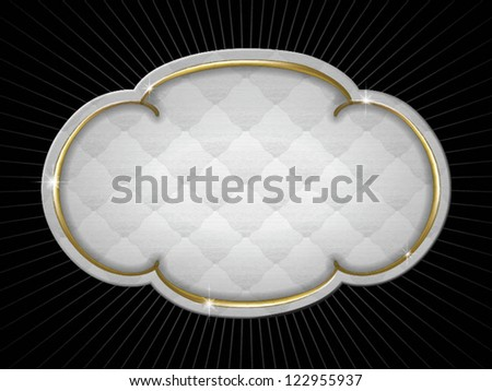 antique gold frame with upholstery texture - stock vector