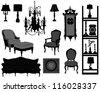 Antique room - stock vector