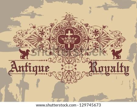 Antique Royalty - stock vector
