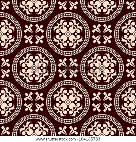 Antique seamless pattern with floral elements for background design. Jpeg version also available in gallery - stock vector
