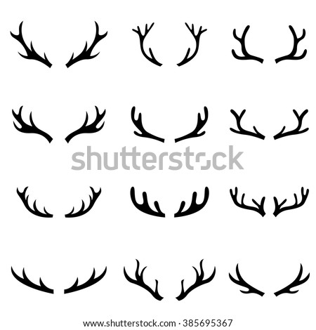 Sleigh besides 325455510546306569 likewise Stock Vector The Set Of Deer Silhouette furthermore antler Art license Plate Frames also 409123947368739073. on deer antler results