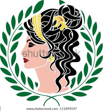 Aphrodite. stencil. vector illustration - stock vector