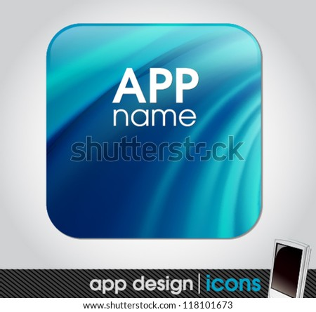 app icon for mobile devices - stock vector