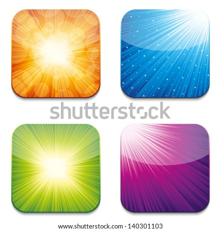 App icons - stock vector