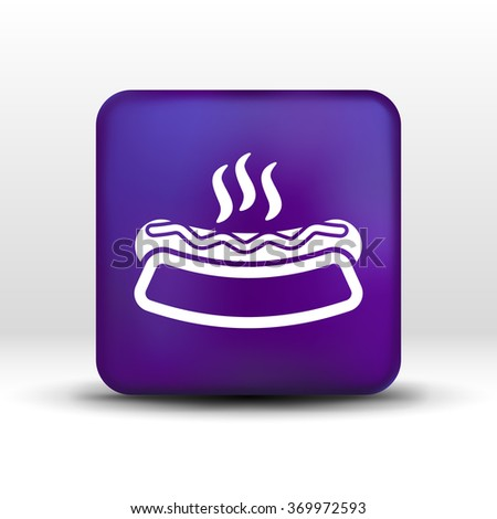 Appetizing hotdog such logo version also available gallery. - stock vector