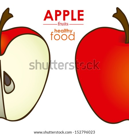 apple design over white background vector illustration  - stock vector